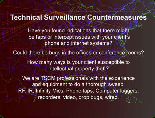 Wisconsin TSCM technical surveillance counter measures debugging