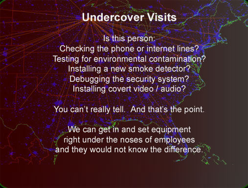Undercover operations worldwide