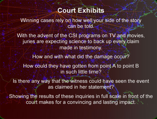 Produce and present evidence for court