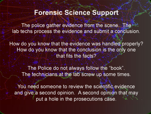 crime lab support for defense investigators