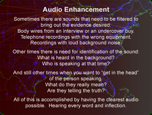 forensic Audio sound identification Wisconsin