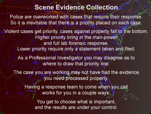 Crime scene response and evidence collection Wisconsin