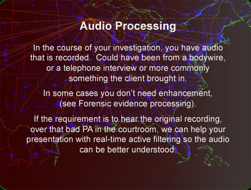 Audio Enhancement and noise reduction Wisconsin