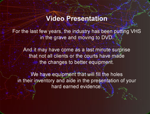 Wisconsin production of Video presentations for court