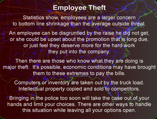 Employee thft Inventory Intellectual property