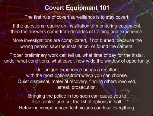 Covert video corporate security