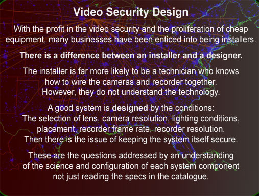 Video security design solution