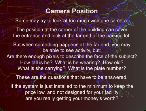 Effective security camera system design