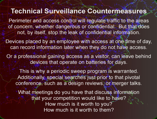 TSCM technical surveillance countermeasures experts