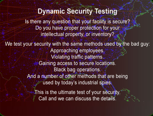 Dynamic security testing perimeter intrusion Chippewa Investigator